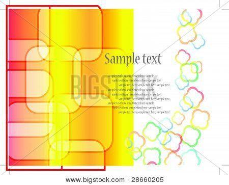 Abstract visit card