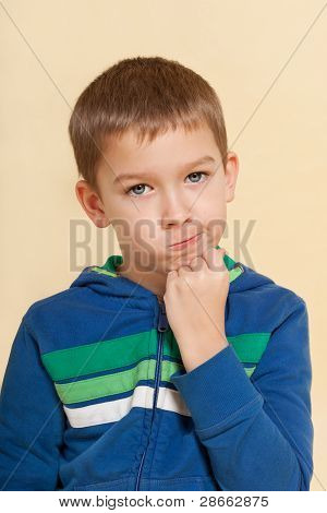 Boy With Facial Expression Isolated.