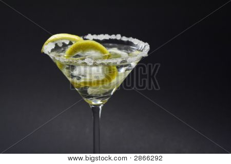 Martini With Sugar Crust, Lemon And Peels