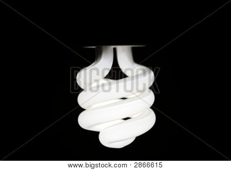 Glowing Compact Fluorescent Bulb