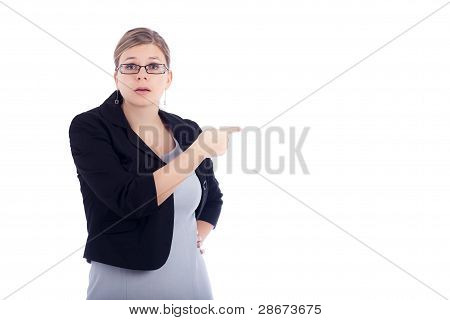 Angry Business Woman Blaming