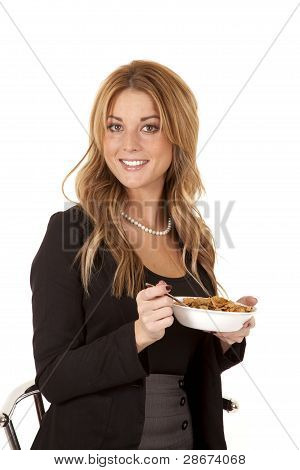 Business Woman Looking With Cereal