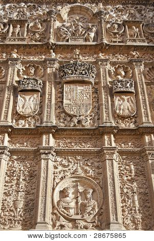 facade to University of Salamanca, Spain