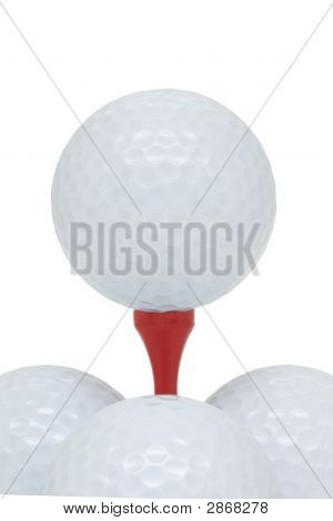 Golf Balls And Tee