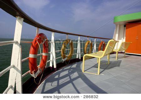 Deck Of Hong Kong Ferry