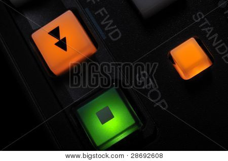Macro Shot Of Fwd,stop And Standby Buttons