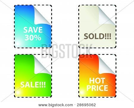 Set of colorful  stickers