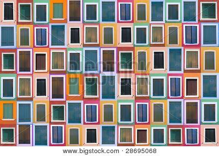 Set of 78 color windows