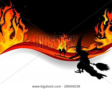 Witch In Fire