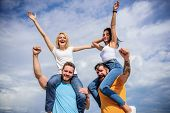 Cheerful Couples Dancing. Friends Having Fun Summer Open Air Festival. Men And Women Enjoy Music Fes poster
