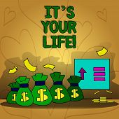 Conceptual Hand Writing Showing It S Your Life. Business Photo Text You Can Make Your Own Decision O poster