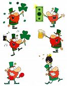 pic of boxing day  - Happy Leprechauns Celebrate St Patricks Day Cartoon Character - JPG