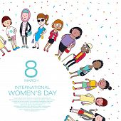 Happy Womans Day poster