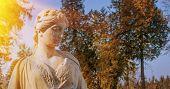 The Goddess Of Love In Greek Mythology, Aphrodite (venus In Roman Mythology) Fragment Of Ancient Sta poster