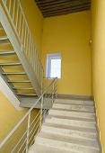 Staircase - Emergency Exit In Hotel, Close-up Staircase, Interior Staircases, Interior Staircases Ho poster