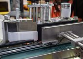 Full Automatic Tin Can Label Machine In Food Production Line poster