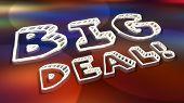 Big Deal Major News Announcement Words 3d Illustration poster