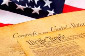 picture of bill-of-rights  - us constitution and american flag - JPG