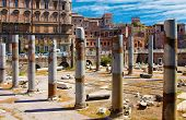 Rome, Italy.   The Roman Forum (latin: Forum Romanum)