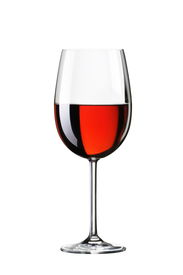 stock photo of red wine  - Glass with red wine - JPG