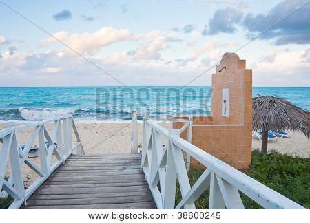 The Beach On The Ocean. The Island Of Cayo Guillermo. Cuba