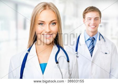 Female doctor with her colleague