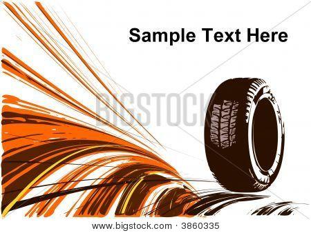 Grunge Background Of Auto Design