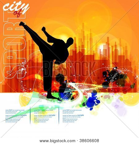 Sport city illustration