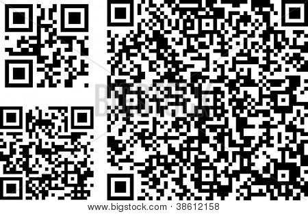 QR codes of different complexity