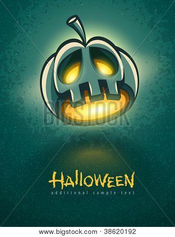 terrible jack-o-lantern head for halloween vector illustration EPS10.
