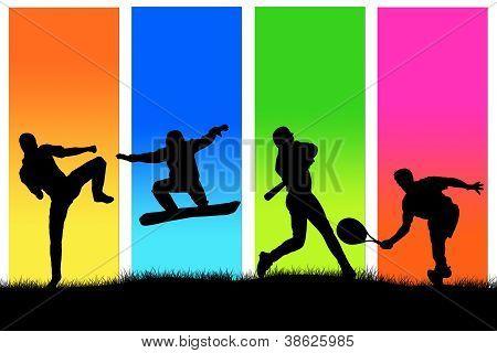 Sporting people