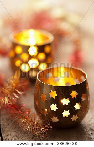 burning lanterns