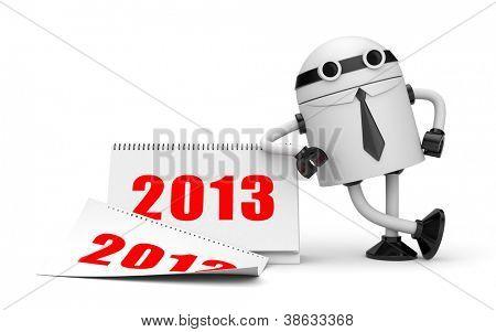 Robot with calendar 2013