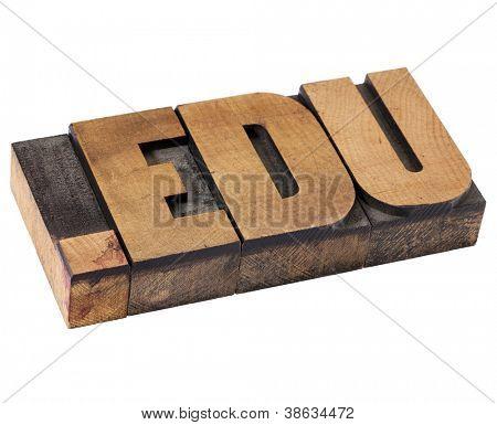 texto de domínio - endereço de rede para a educação - isolado dot edu internet em tipografia vintage woo