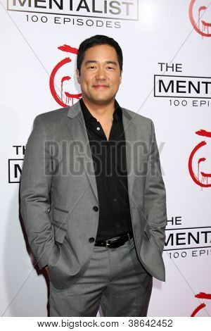 "LOS ANGELES - OCT 11:  TIm Kang arrives at ""The Mentalist"" 100th Episode Party at The Edison on October 11, 2012 in Los Angeles, CA"