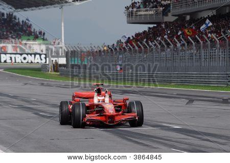 Kimi Raikonen Of Ferarri F1 Team