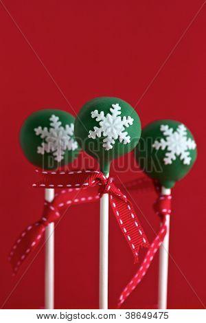 Green Christmas Cake Pops