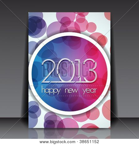 2013 New Year Vector Editable Flyer Template