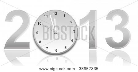 Year 2013 with Clock