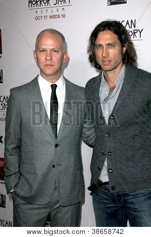 LOS ANGELES - OCT 13:  Ryan Murphy, Brad Flachuk arrives at the