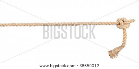Seil-Knot, isolated on white