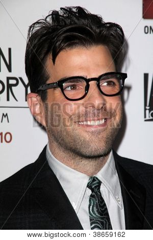 "LOS ANGELES - OCT 13:  Zachary Quinto arrives at the ""American Horror Story: Asylum"" Premiere Screening at Paramount Theater on October 13, 2012 in Los Angeles, CA"
