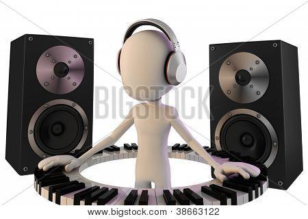 3d man DJ