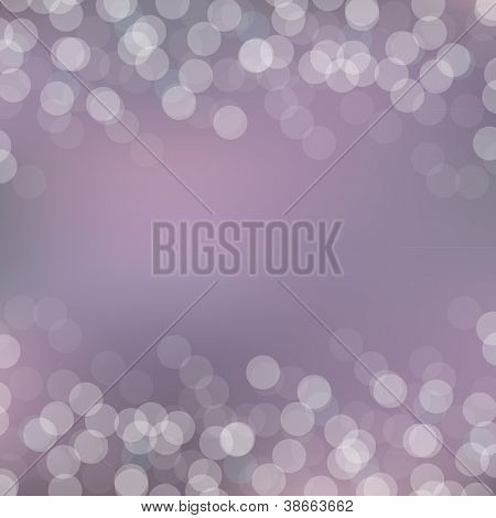 Purple Bokeh Background With Bokeh, Vector Illustration
