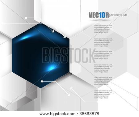 eps10 vector corporate hexagon background design