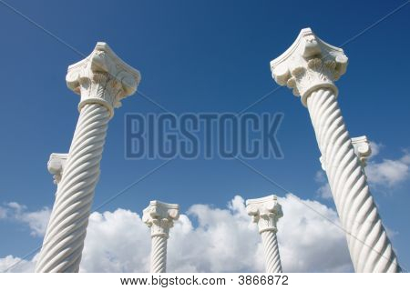 Pillas In Blue Sky