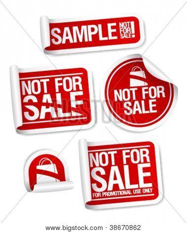 Amostra não para adesivos de venda produtos gratuitamente.