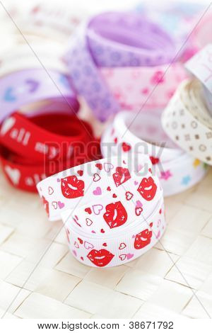 lots of lovely ribbons as a decoration - decoration /shallow DOFF/