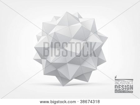 Polyhedron for graphic design. You can change colors, eps10 vector