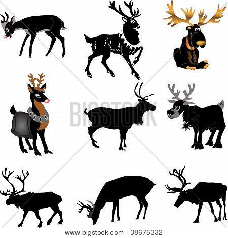 Set of 9 Reindeer